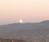 Der erste Sonnenuntergang in Andalusien