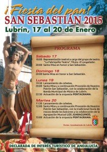 Fiesta del pan am 20. Januar in Lubrin/Andalusien