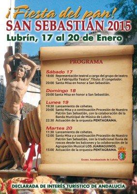 Fiesta del pan am 20. Januar in Lubrin/Andalusien