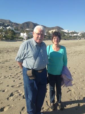 Oma und Opa auf Besuch in Spanien