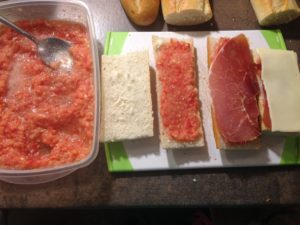 Tapas: Tostada de Tomate
