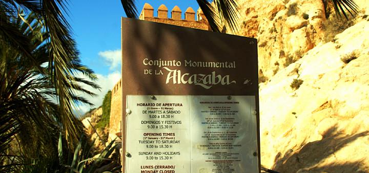 Alcazaba Almeria Öffnungszeiten