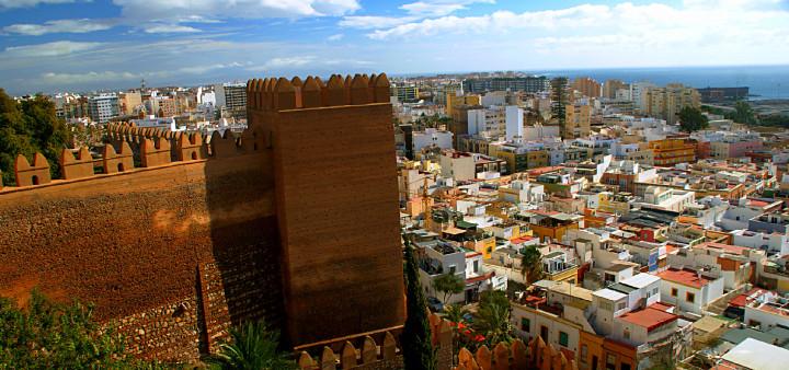 Ausblick Alcazaba Almeria