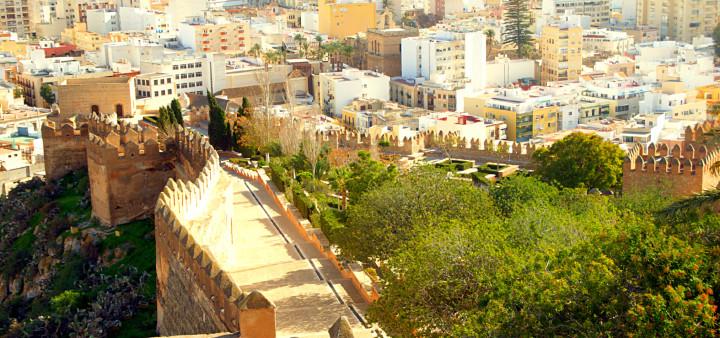 Ausblick vom höchsten Punkt der Alcazaba Almeria