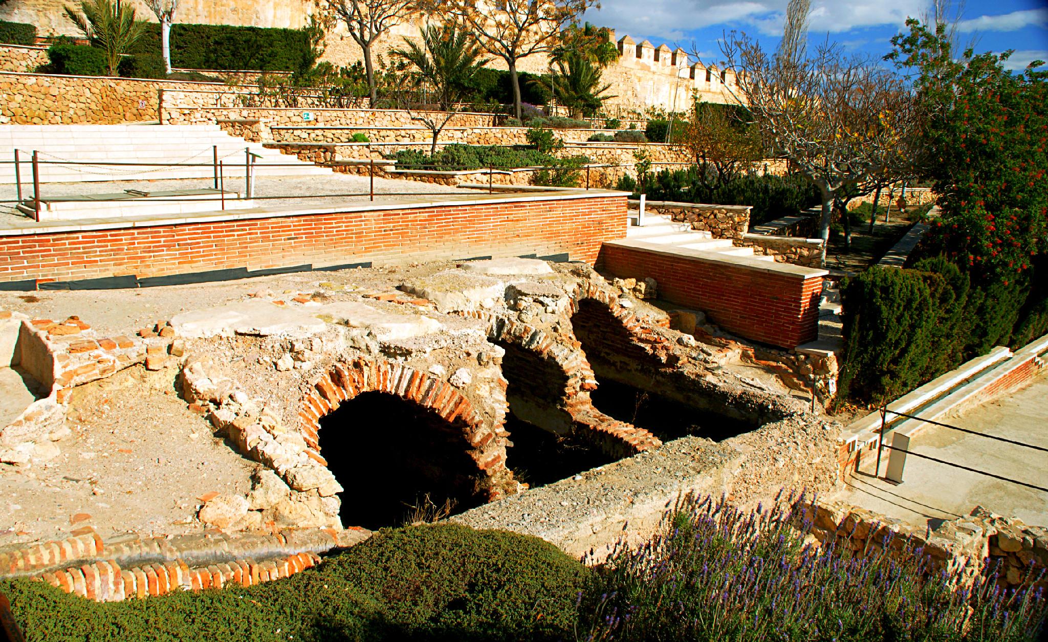 Alcazaba mit Bewässerungssystem