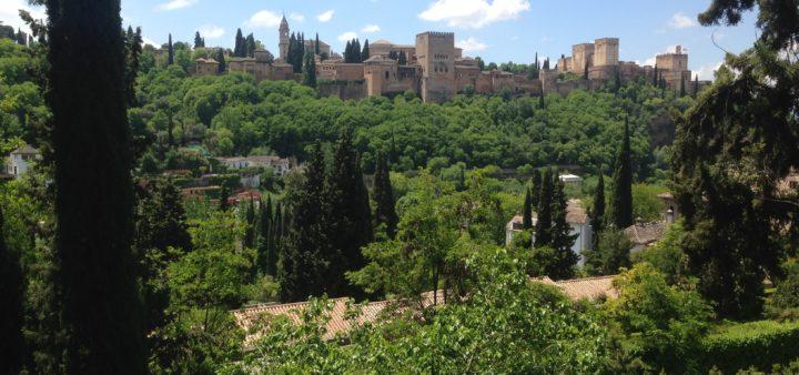 Alhambra Granada von Albaicin gesehen