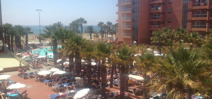 Roquetas de Mar Playa Luna Blick vom Balkon