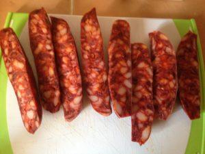 Tapas: gebratene Chorizo