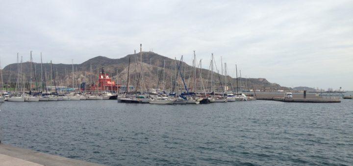 Landschaft und Hafen in Cartagena
